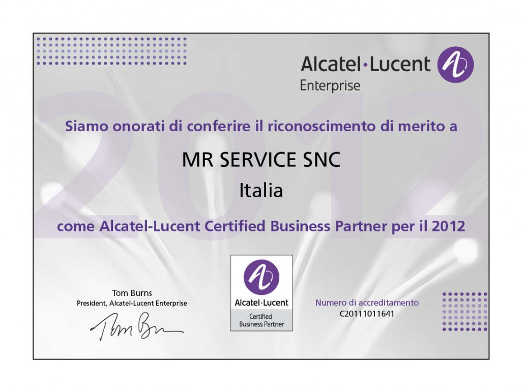 Business Partner Alcatel-Lucent