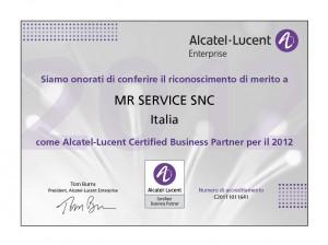 MR SERVICE SNC Certified Partner Alcatel-Lucent