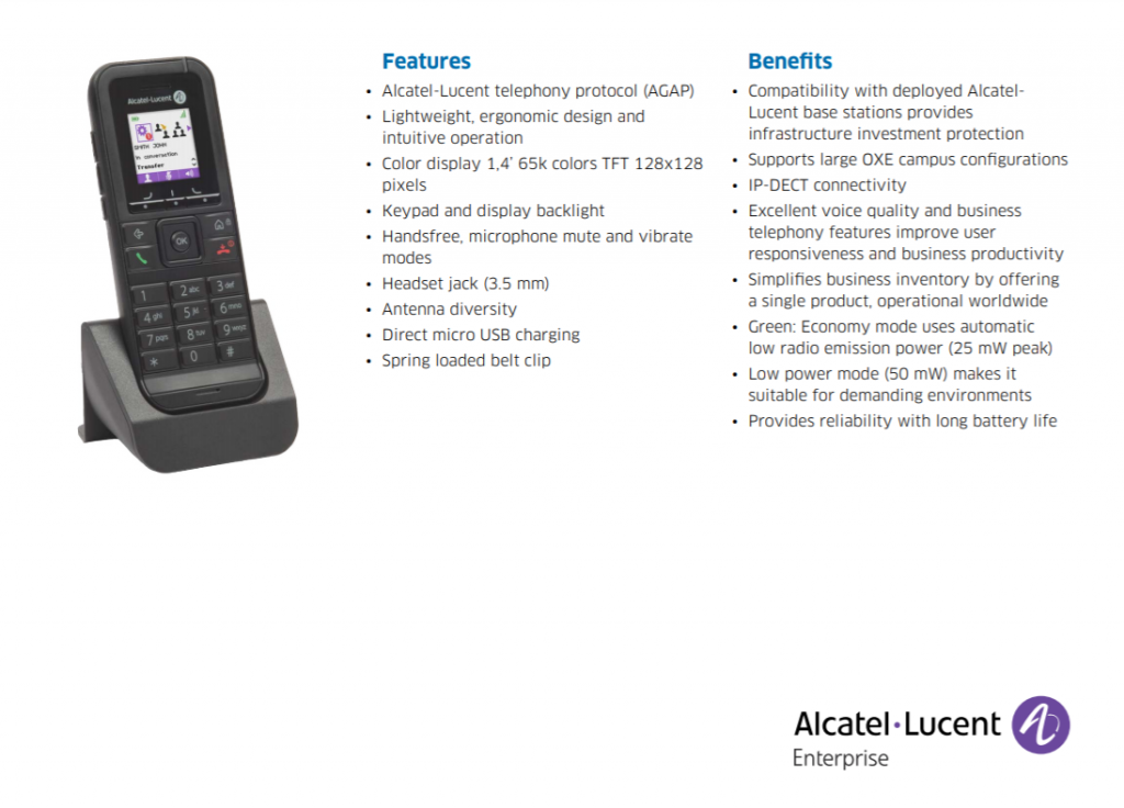Dect 8232 AGAP di Alcatel-Lucent